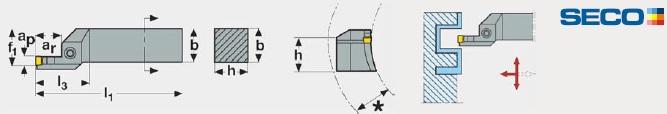 MDT - Külső axiális kések homlok esztergáláshoz - CFIR/L