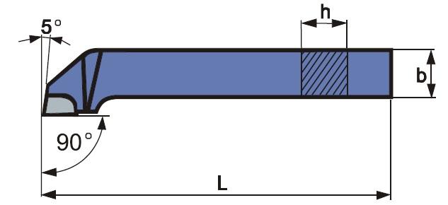Oldalélű esztergakés, forrasztott lapkás, ISO 6